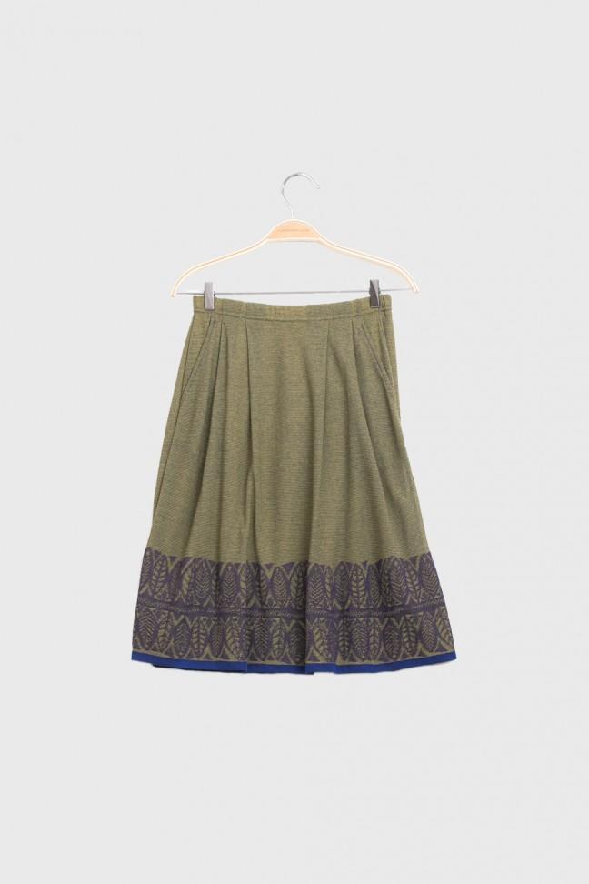 Skirt FOGLIA Gold