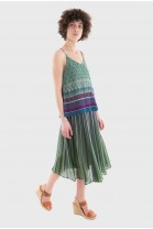 Pleated Skirt HULA Green