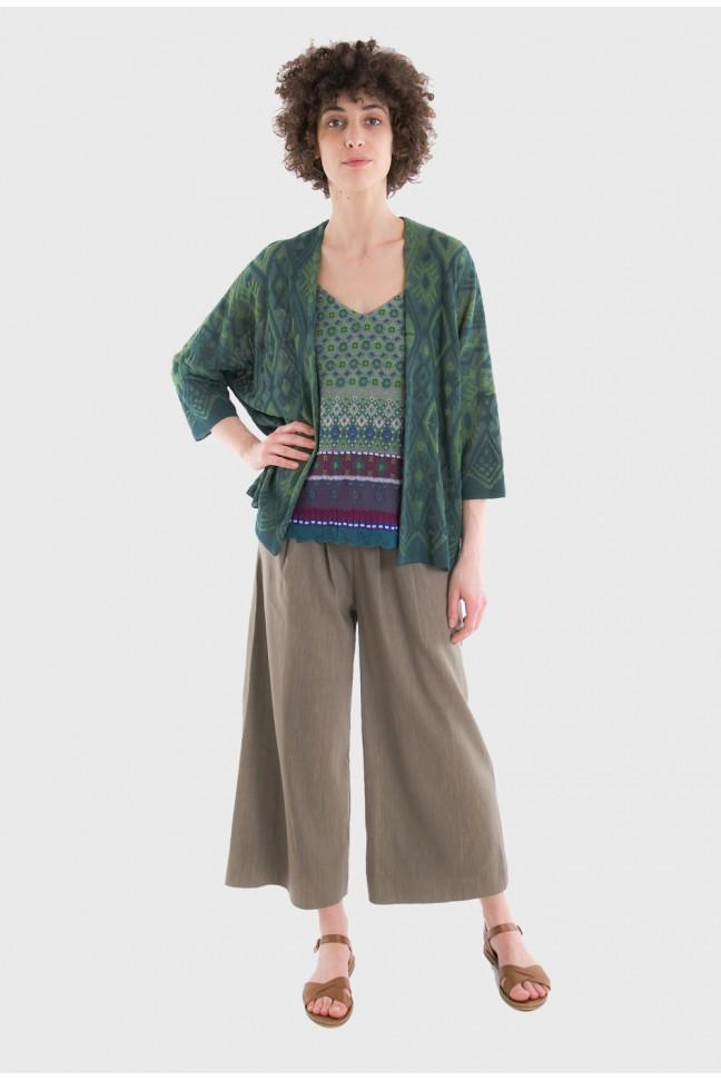 Open cardigan TAPA Green