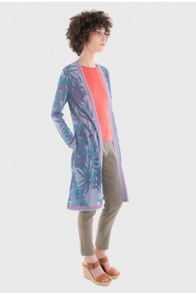 Long open cardigan JUNGLE Lagoon