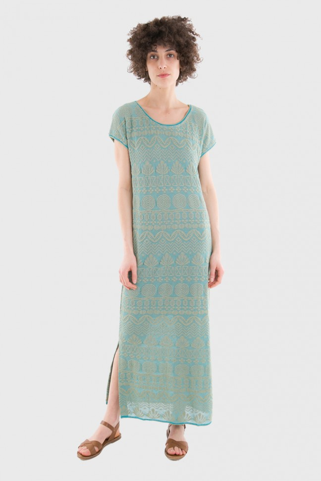 Long dress BEAUSOLEIL Turquoise