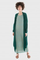 Long Open Cardigan FOLKS Green