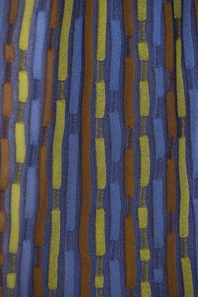 Echarpe Tirets Bleu