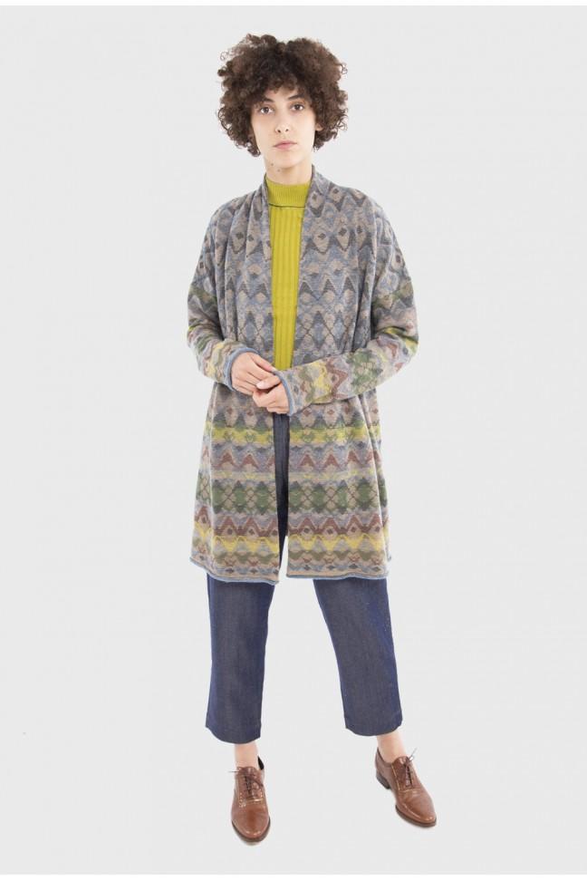 Long Open Cardigan DEDALE Pastel