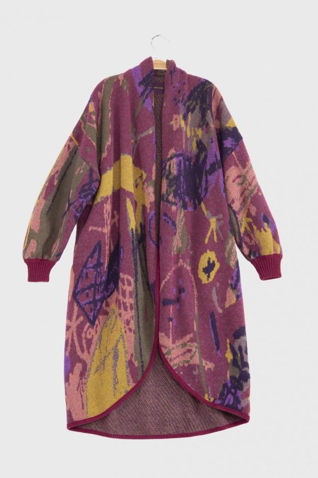 Open coat ELLIOTT Pink