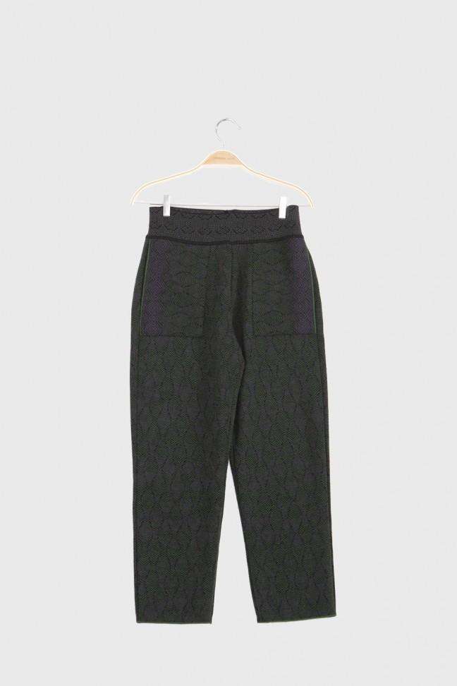Cropped pants PRATER Green