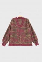 V Neck Sweater ADELE Red