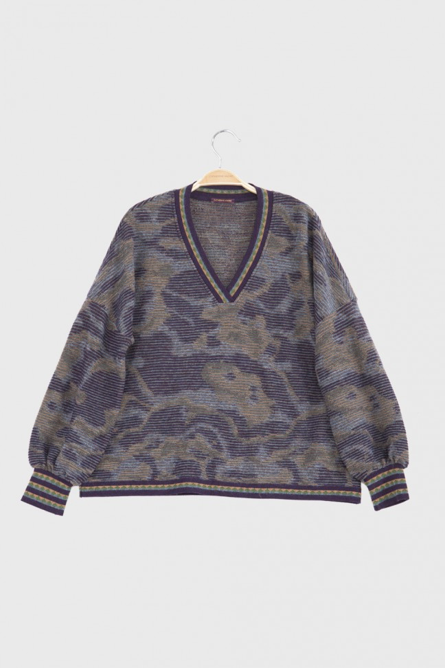 V Neck Sweater ADELE Blue