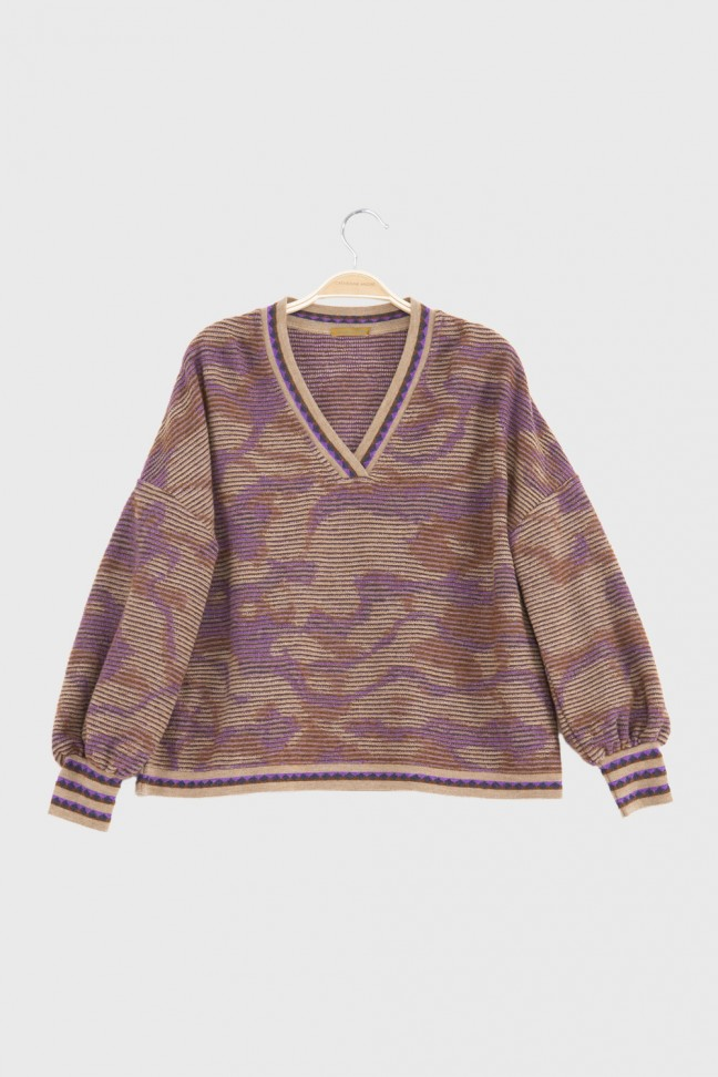 V Neck Sweater ADELE Beige