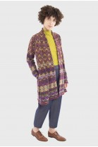 Long Open Cardigan DEDALE Burgundy
