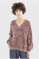 V Neck Sweater ADELE Beige