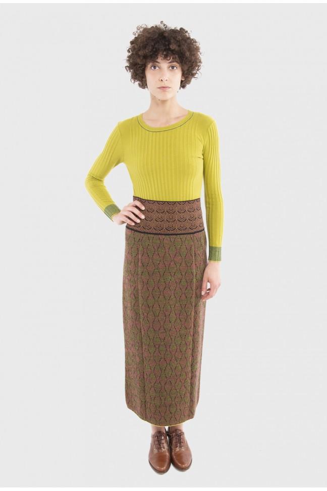 Long skirt PRATER Yellow