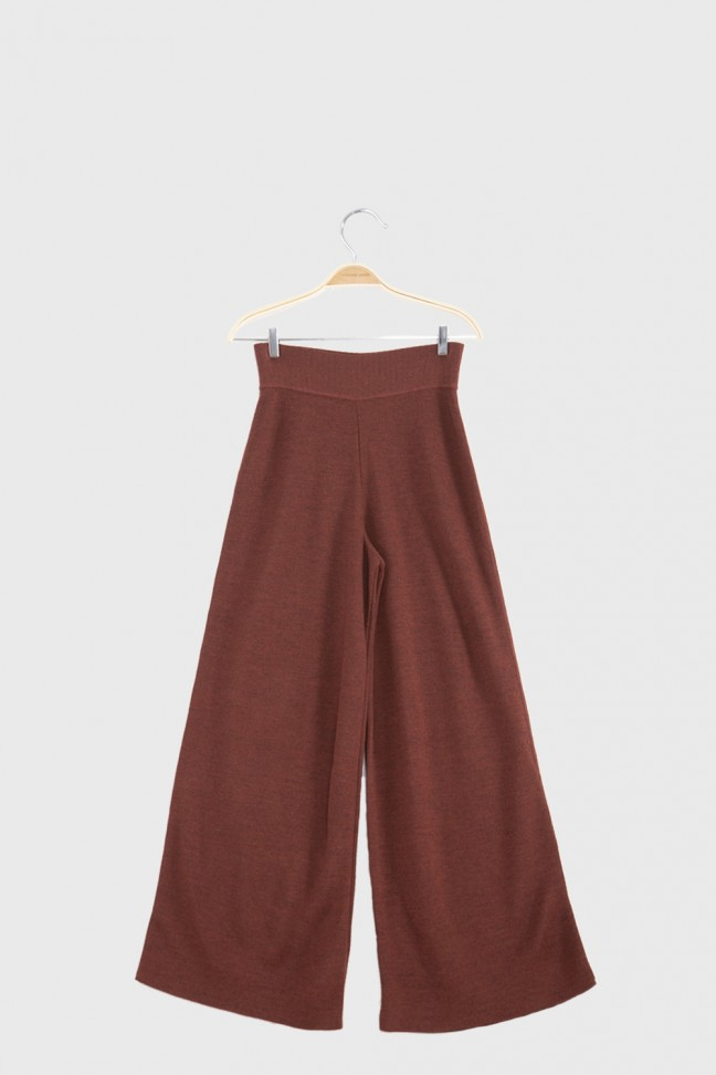 Pantalon large OMNIS Roux