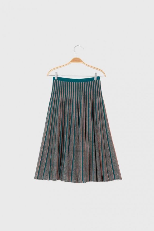 Pleated skirt ALTER Petrol