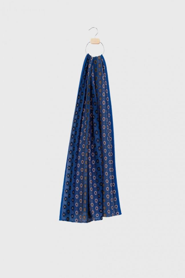 Scarf millefiori blue