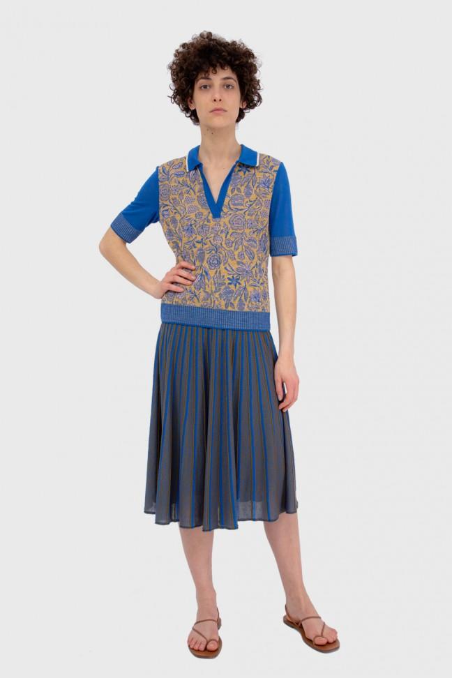 Pleated skirt ALTER Blue