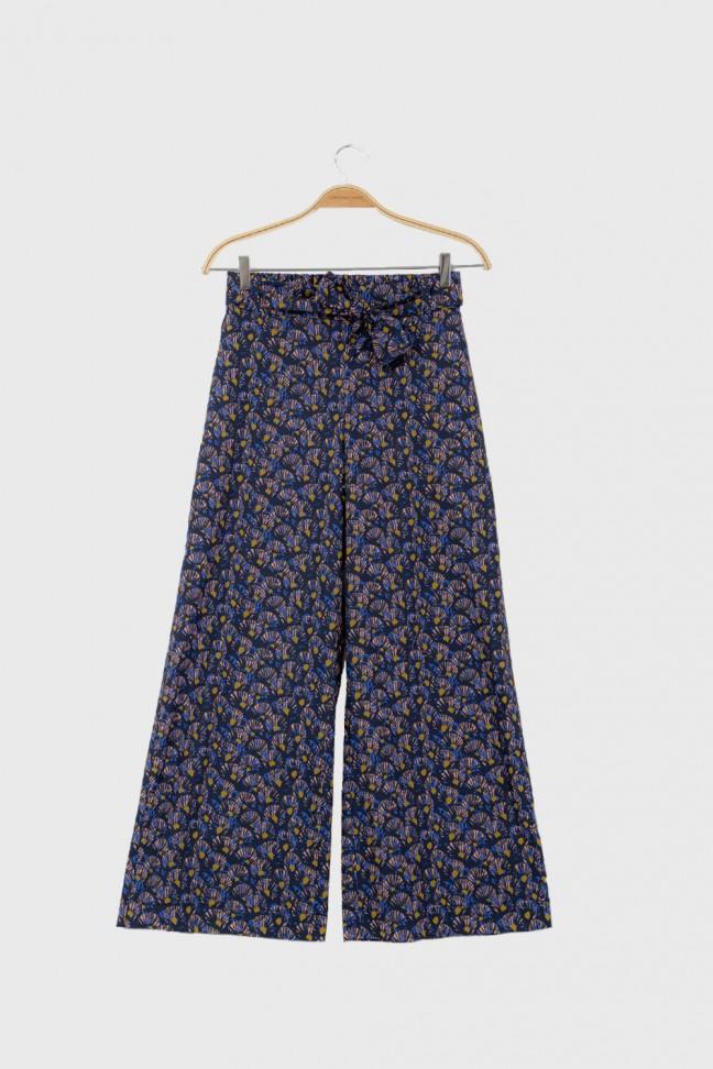Cropped pants ABANICO Blue