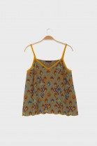 Cami top AWAY Ochre