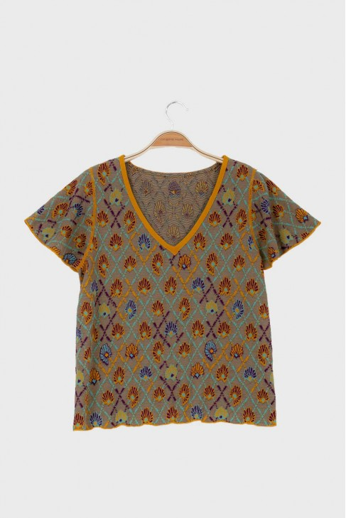 Butterfly tshirt AWAY Ochre