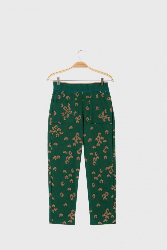Cropped pants KIMONO Green