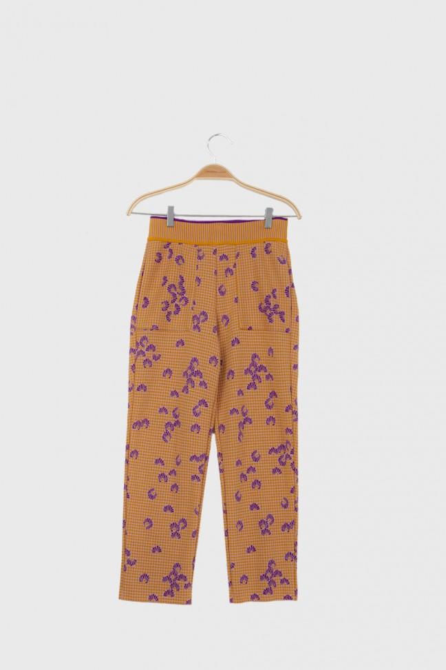 Cropped pants KIMONO Ochre