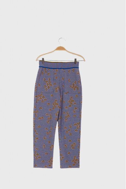 Cropped pants KIMONO Blue
