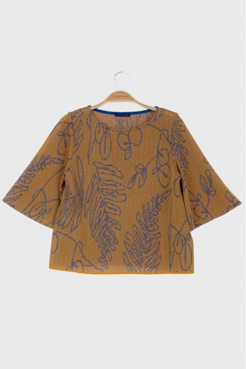 Butterfly tshirt SAVANNAH Ochre