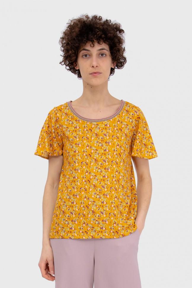 Butterfly Tshirt ABANICO Ochre
