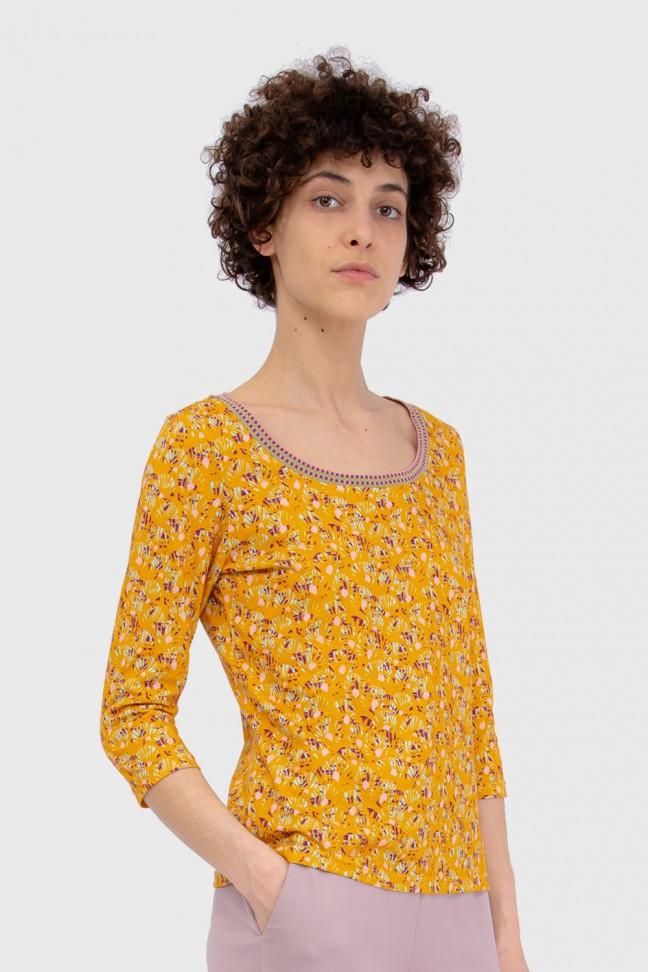 Tshirt 3/4 ABANICO Ochre
