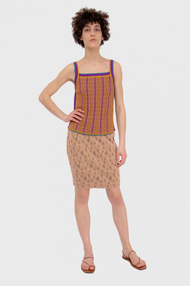 Skirt DOMINO Ochre