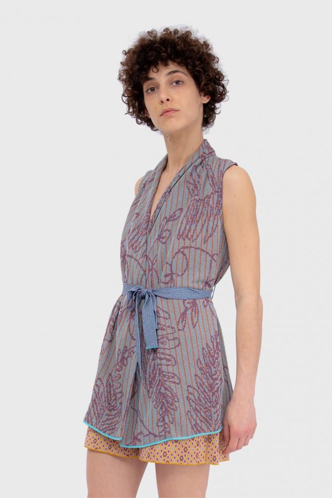 Long wrap cardigan SAVANNAH Purple