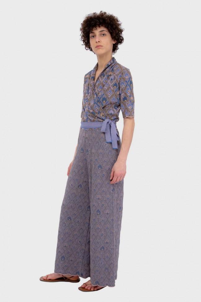 Wrap cardigan AWAY Blue