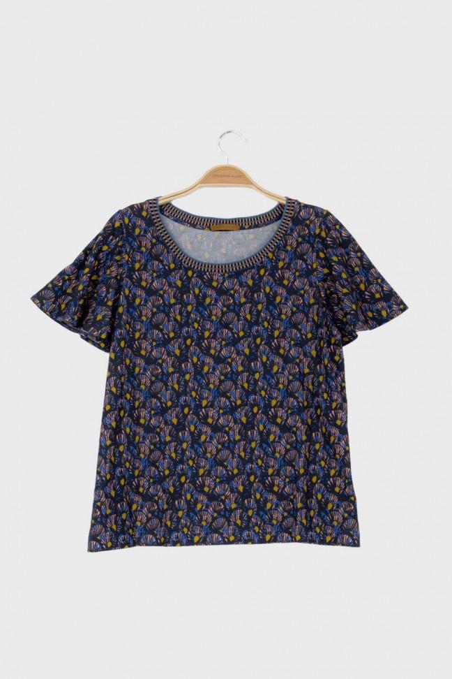 Butterfly Tshirt ABANICO Blue