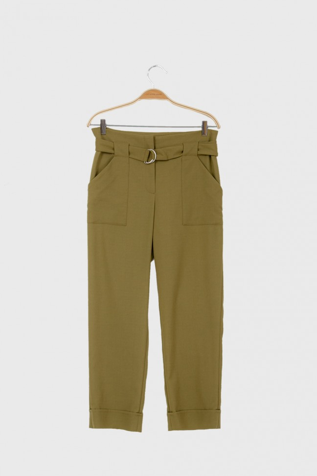 Pantalon noué LODGE kaki