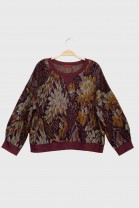 Sweatshirt FOLIAGE burgundy