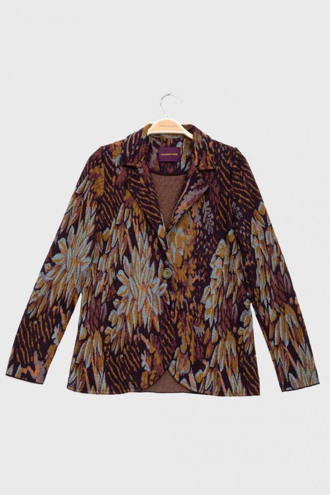 Jacket FOLIAGE burgundy