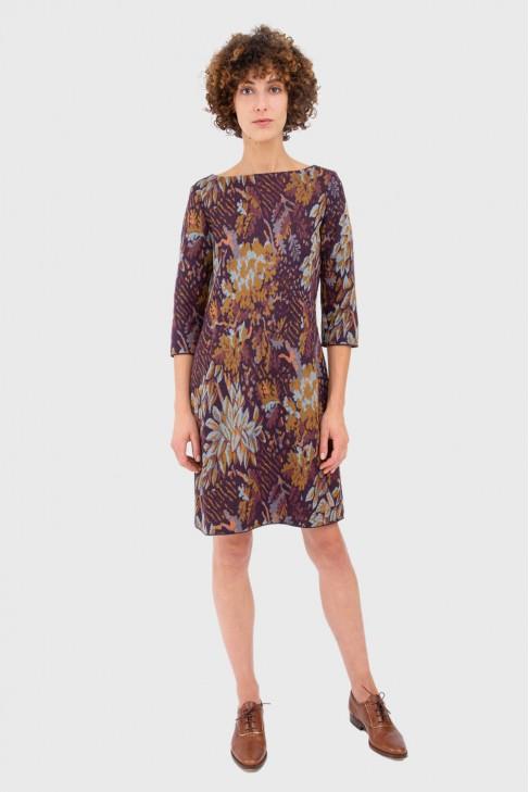 Dress FOLIAGE burgundy