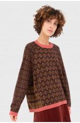 Sweater HORTUS burgundy