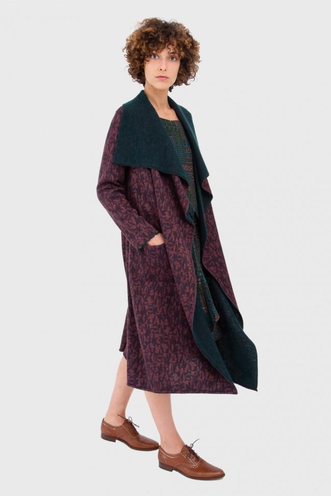 Open coat HARVEST Burgundy
