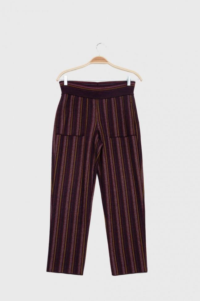 Pantalon 7/8 DANDY Bordeaux