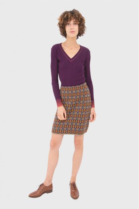 V Neck Sweater BETTER burgundy