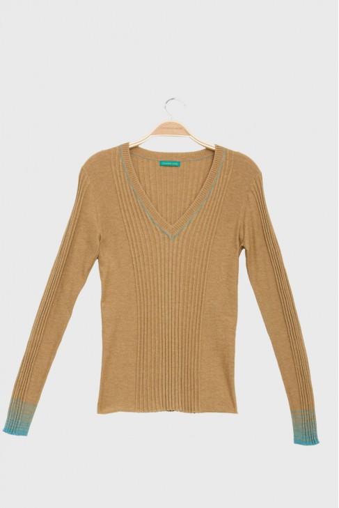 V Neck Sweater BETTER beige