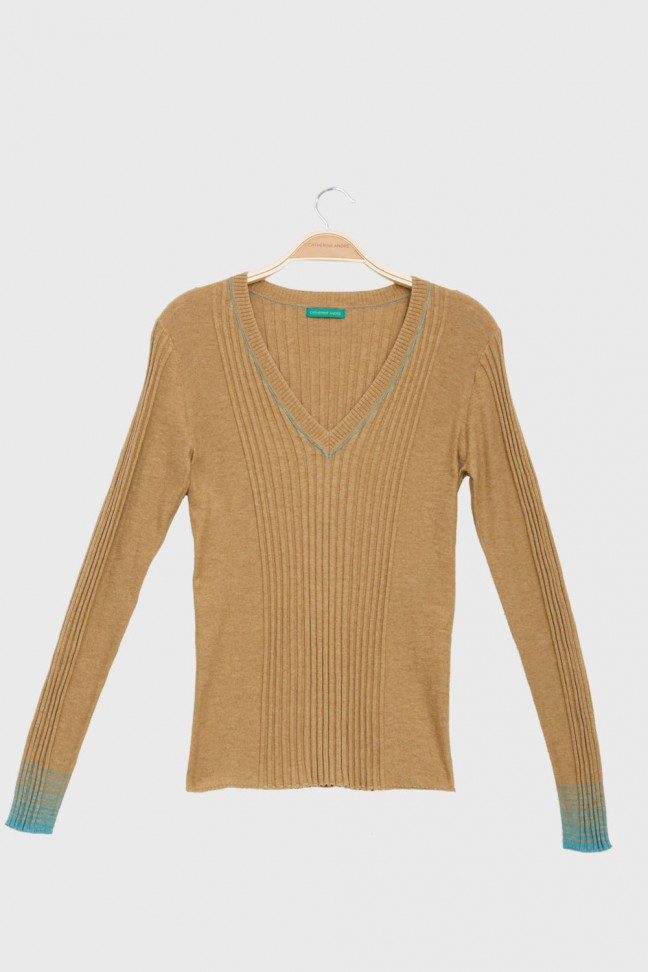 V Neck Sweater BETTER beige