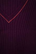 V Neck Sweater BETTER burgundy