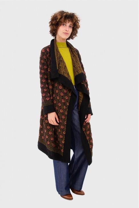 Open coat BAROQUE Black