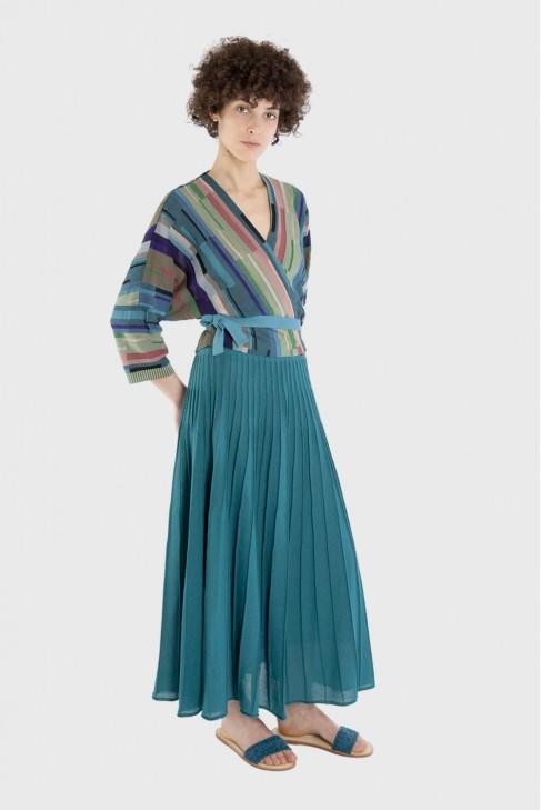 Wrap cardigan ARIA Blue