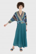 Pleated skirt DANCE Blue