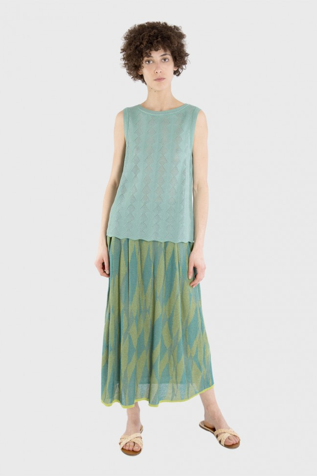 Long skirt LUCINDA Aqua