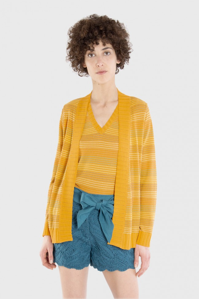 Cardigan SPRAY Ochre