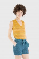 V tank top SPRAY Ochre